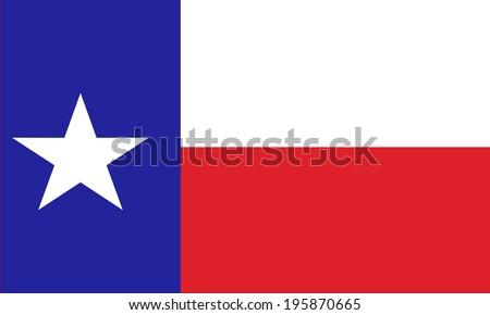 Texas state vector flag. - stock vector