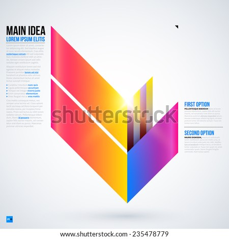 Text background with abstract geometric element. Useful for presentations or web layouts. Vector illustration EPS10 - stock vector