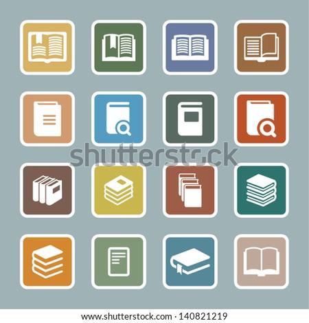 Text book - stock vector