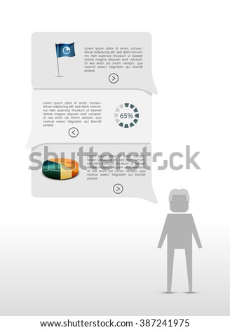 Text box and infographic - stock vector