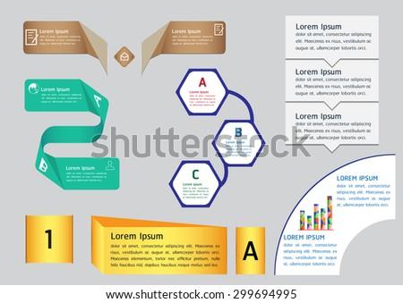 Text box templates - stock vector