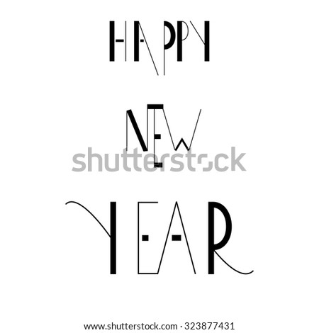 Text design of happy new year. vector illustration  - stock vector