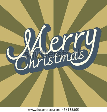 Text design of Merry Christmas background Vector