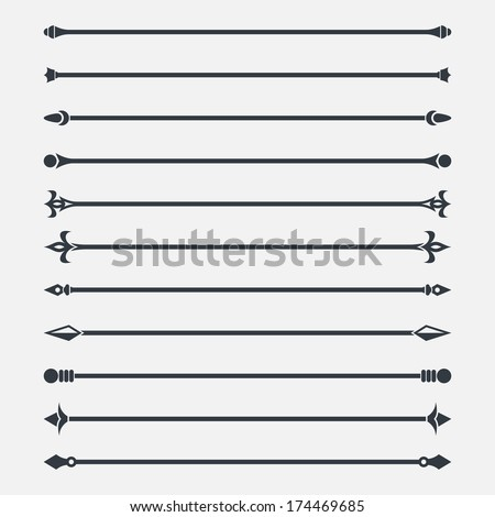 Text dividers set - stock vector