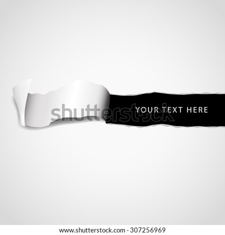 Text field in the paper with paper stripe isolated