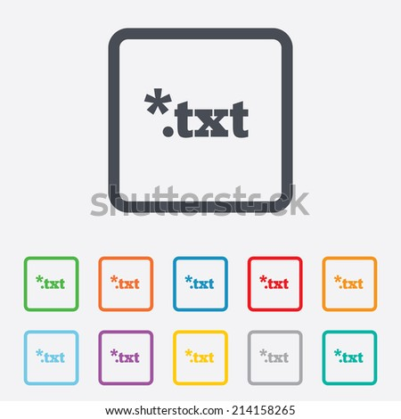 .txt Text file icon. Download txt doc button. Txt file extension symbol ...