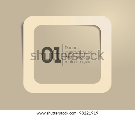 text frame / speech frame / tag box / vector - stock vector