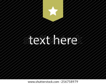 Text here. place for text. Black background. vector illustration - stock vector
