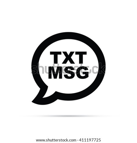 Text Message Icon - stock vector