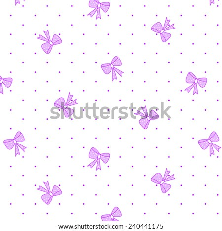 Textile and fabric bow tie pattern - stock vector