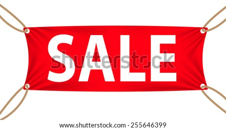 Sales Banners Textile Banners With Sale Text