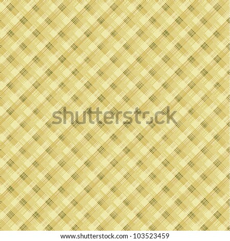 Textile plaid background, plus seamless pattern included in swatch palette (pattern fill expanded)  - stock vector