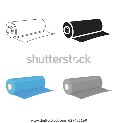carpet roll logo. textile roll icon of vector illustration for web and mobile carpet logo