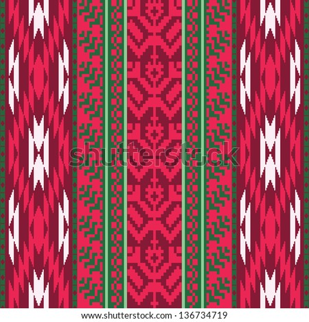 Textile seamless pattern ethnic style - stock vector