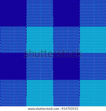 Textile seamless texture. Blue and turquoise plaid. VECTOR