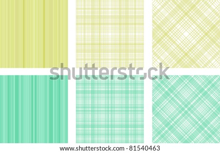 textile texture set - stock vector