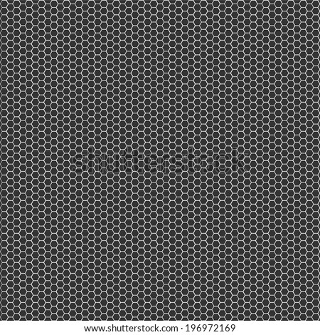 Texture background - black metal surface square perforated. - stock vector