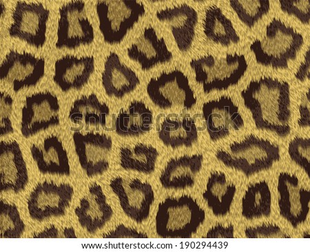 Texture of a short sand color leopard fur - stock vector
