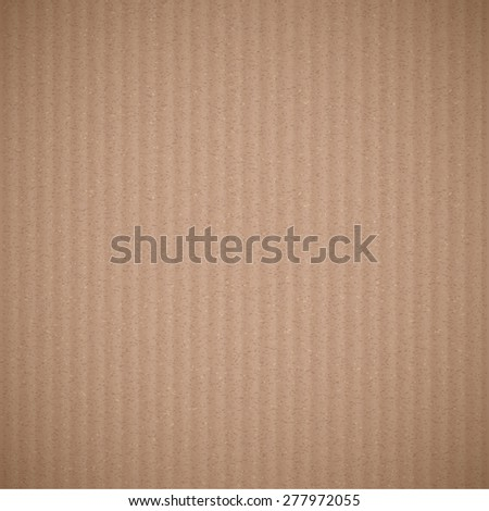 Texture of brown corrugated cardboard. Vector background. - stock vector