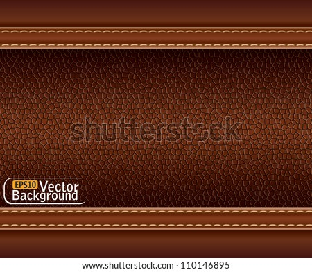 texture of brown leather.vector - stock vector