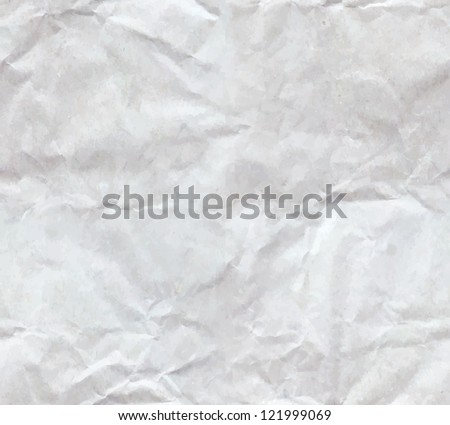 Texture of crumpled paper sheet seamless - stock vector