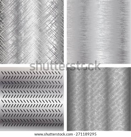 Texture of metal - stock vector