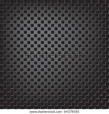 Texture of square metallic mesh - stock vector