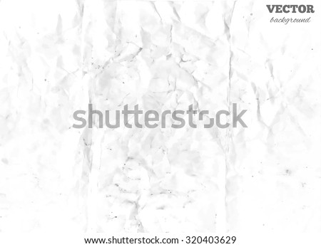 Texture of white crumpled paper, vector illustration - stock vector