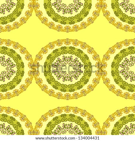 texture on a yellow background - stock vector