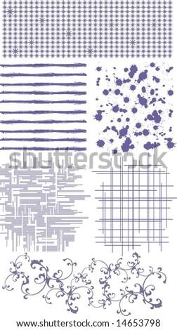 texture set - stock vector