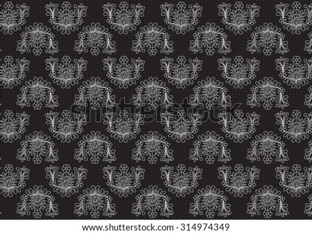 Texture with floral designs on black background 3