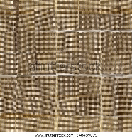 Textured background with vertical and horizontal stripes. Wrinkled fabric texture. Vector. - stock vector