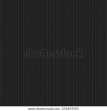 Textured black background with vertical lines. Vector EPS10 - stock vector