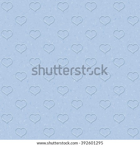 Textured  blue paper with natural fiber parts with heart.  vector graphic illustration - stock vector