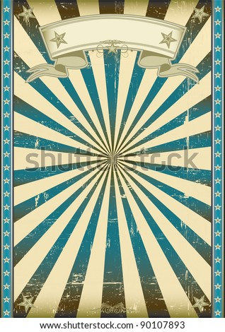 textured blue retro background. A vintage blue poster with a texture. - stock vector