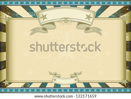 textured blue retro certificate A vintage horizontal poster with a large copy space for you.  Perfect size for a screen. - stock vector
