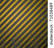 textured old striped warning background - stock photo