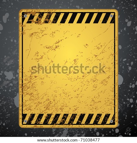 textured old striped warning background - stock vector