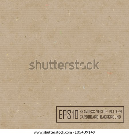 Textured recycled cardboard with natural multicolored fiber parts. - stock vector
