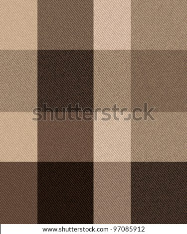 Textured striped check fabric background. Seamless pattern. Vector. - stock vector