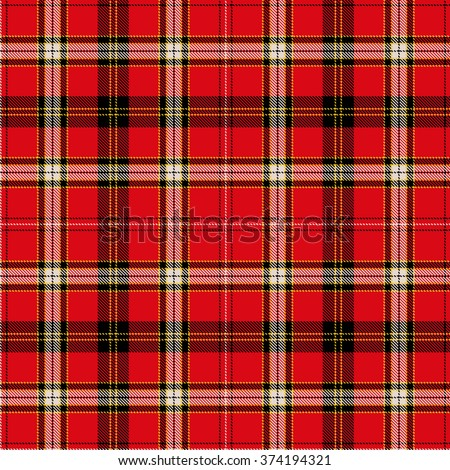 Textured tartan plaid - stock vector