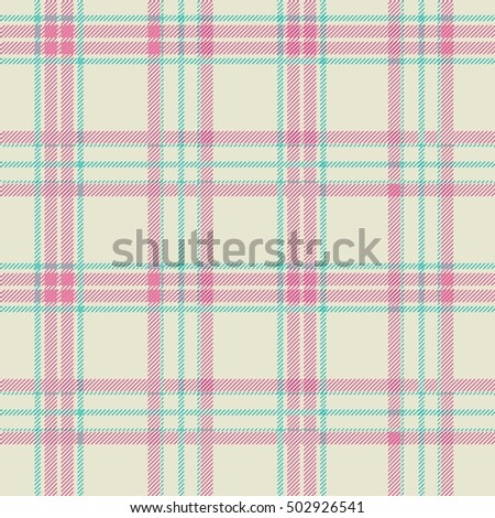Textured tartan plaid. Seamless pattern.