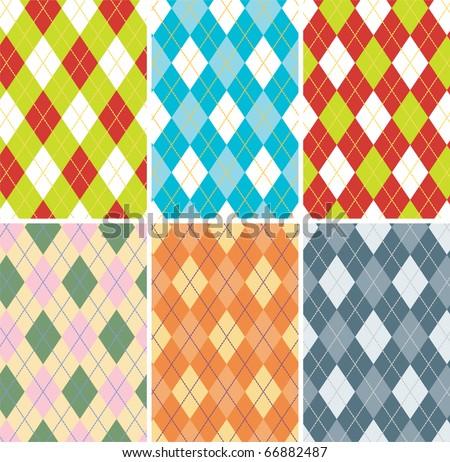 Textured tartan plaid. Seamless vector pattern. - stock vector