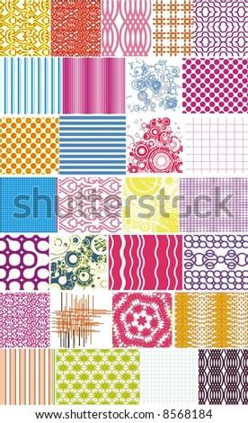 textures - stock vector