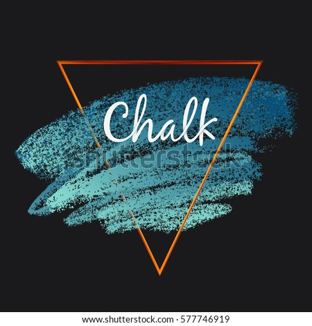 Textures of chalk and charcoal. Vector brush strokes. Soft pastel colors. Decorative golden frame. High resolution image. Grunge template. For registration of design projects.