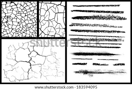Textures set - stock vector