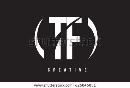 Stock Vector Tf White Letter Logo Design With Background Illustration Template Initial Monogram Ft