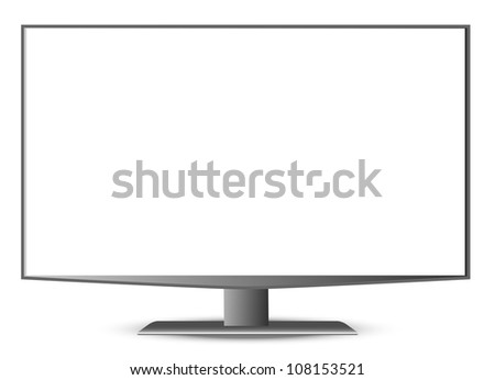 TFT Monitor on  white background. Eps8 vector. - stock vector