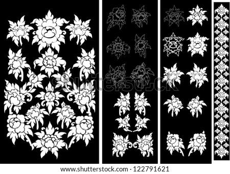 Thai ancient art pattern, Vector illustration,Thailand - stock vector