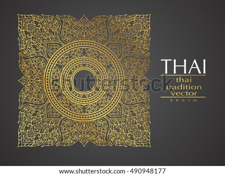 Thai art element traditional gold greeting stock vector 2018 thai art element traditional gold for greeting cards m4hsunfo